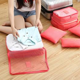 Types Set Clothes Australia - 6 Pcs Travel Storage Bag Set For Clothes Tidy Organizer Wardrobe Suitcase Pouch Travel Organizer Bag Case Shoes Packing Cube Bag