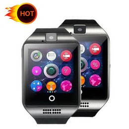 lg android sim card Australia - Happy Smart Watch Q18 wireless smart wristbands NFC Remote camera SIM Card Passometer for ios android samsung htc lg smart watches facebook