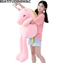 Tv cushions online shopping - New Large Soft Unicorn Animal Plush Toy Stuffed Toy Girl Gift Children s Toy Sofa Pillow Cushion Home Decoration