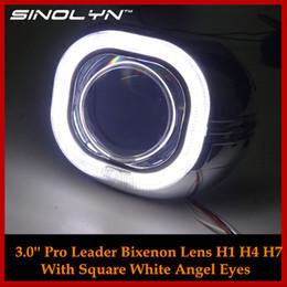 $enCountryForm.capitalKeyWord UK - Automobiles Metal 3.0 Pro Square Angel Eyes Halo HID Bi xenon Lens Car Headlight Projector Headlamp Lenses H1 H4 H7 Car-styling