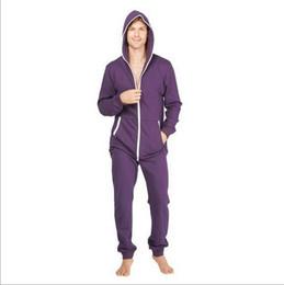 Jumpsuit Sleepwear Blue Australia - 5 colors Adult Sleep Lounge sleepwear One Piece Pyjamas Male Jumpsuits Hooded Onesies Unisex Onesies Sleepsuit Hombre Una Nightgown