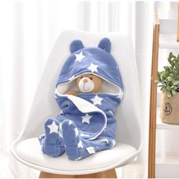 $enCountryForm.capitalKeyWord Australia - Fleece Baby Envelop Sleeping Bag Winter Warm Swaddle Blanket Newborn for Stroller Thick Sleeping Bag Sleep Sacks Baby Bedding