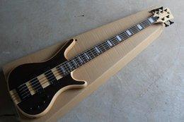 $enCountryForm.capitalKeyWord NZ - Top quality one-piece set neck W LTD Corvette NT 5 String Dark brown electric bass guitar With EMG Active Pickups