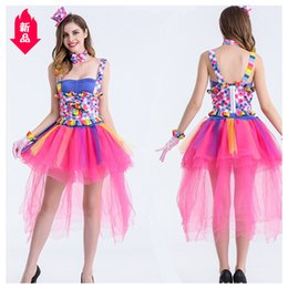 cotton candy costume NZ - Candy Colour Clown Clothes Movies Performer Start Dance Show Clothes Nightclub Singer Perform Clothes Halloween Clothing