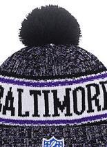 Custom Fashion Beanies Australia - 2019 Unisex Autumn Winter hat Sport Knit Hat Custom Knitted Cap Sideline Cold Weather Knit hat Warm Ravens Beanie Skull Cap 05