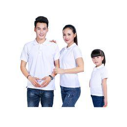 Polo Shirt Simple NZ - Fashion simple group uniform overalls white polo shirt kids cotton