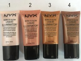 Face Glow Cream Australia - NYX Liquid Foundation Face Concealer Makeup Born To Glow Liquid Illuminator BB Cream Make Up Powder Cosmetics Skin Care 18ml