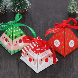 $enCountryForm.capitalKeyWord Australia - Creative Christmas Theme Triangle Candy Box Party Food Packaging Box Candy Box Companion Gift Wrap Christmas Decorations for Home KC3020