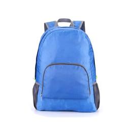 Traveling Back Bags Australia - New Travel Backpacks Zipper Soild Nylon Back Pack Daily Traveling Women men Shoulder Bags Folding Bag