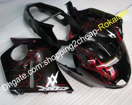 $enCountryForm.capitalKeyWord Australia - Motorcycle Cowling For Honda 1996-2007 Fairings Blackbird CBR1100XX 96-07 CBR 1100 XX Red Flame Body Fairing Kit (Injection molding)