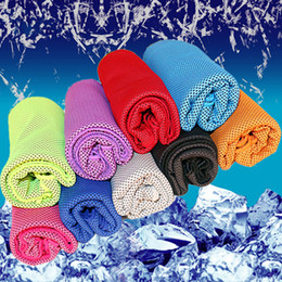 exercise scarf Canada - Ice Cold Towel Outdoor Cooling Scarves Summer Sunstroke Sports Exercise Cool Quick Dry Soft Breathable Cooling Towels 100*30cm 40x80cm