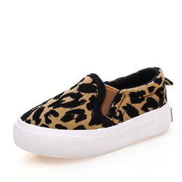 $enCountryForm.capitalKeyWord UK - 2017 Spring Children Shoes Girls Boys Casual Shoes Fashion Leopard Print Comfortable Canvas Shoes Kids Sneakers Slip On Loafers Y19061906