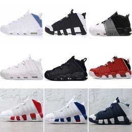 new style 6ca53 8d1a8 More Uptempo OG Women Mens Basketball Shoes High Quality Tri-Color Scottie  Pippen PE Triple White Athletic Designer Runnig Sneakers Eur36-45