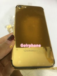 $enCountryForm.capitalKeyWord Australia - for iphone 7 and for iphone7 plus real gold 24ct gold plated original housing with diamond frame and crystal high quality