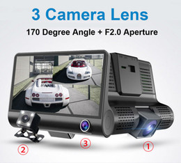 "$enCountryForm.capitalKeyWord Australia - 3 cameras car DVR auto driving dashcam vehicle video recorder 4"" display FHD 1080P front 170° rear 140° interior 120° night vision G-sensor"