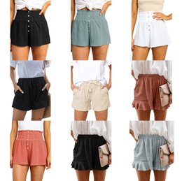 Wholesale casual work pants womens resale online – Womens Cargo Shorts Brand New Army Camouflage Shorts Women Cotton Loose Work Casual Short Pants No Belt
