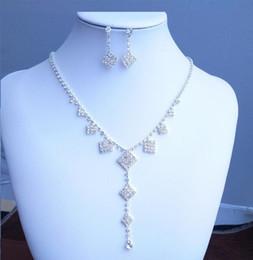 Discount swarovski bridal sets - New style Fashion fringes Necklace Pendant Earring suit Inlaid Austria Crystal Use Swarovski elements Twinkle Bridal Nec