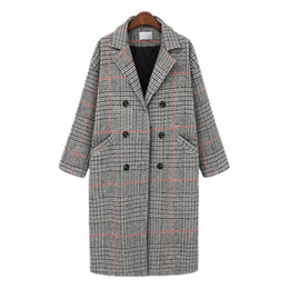 $enCountryForm.capitalKeyWord Australia - 2008 Winter Clothes New Large Size Women&s Clothes Fat Mm Plaid Medium-length Wool Overcoat