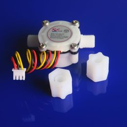 Flowmeter Sensor Canada - 50PCS Water Flow Meter Sensor Switch Counter Indicator Hall Flowmeter 0.3-6L min G1 4 Drinking machine Electrolysis Smart toilet