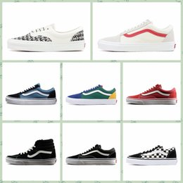 8c9e3b25c2 VAA1d hot sale cheap Men Women Sports outdoors shoes Old Skool Fear Of God Classic  Canvas Black White YACHT CLUB MARSHMALLOW Skate Casual Of