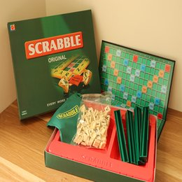 Spelling toyS online shopping - English French Russian Scrabble Games Kid Crossword Puzzles Children Board Spelling Table Children s educational toys