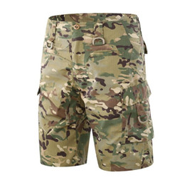 paintball army Australia - Mens Tactical Shorts Army Quick-dry Loose Cargo Shorts SWAT Paintball Camo Multiple Pockets Casual Short Pants