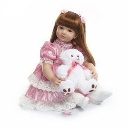 $enCountryForm.capitalKeyWord Australia - 60cm Silicone Vinyl Reborn Baby Doll Toy For Girl Exquisite Princess Toddler Alive Babies Child Birthday Gift Play House Toy