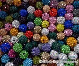 $enCountryForm.capitalKeyWord NZ - hotsale 10mm 300pcs lot mixed multi color Crystal crystal Bead Bracelet Necklace Beads.Hot spacer beads Lot!Rhinestone DIY u5422 w62