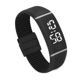 Womens Watches Digital UK - Mens Womens Rubber LED Watch Date Sports Bracelet Digital Wrist Watch Women Wrist Sports Wristwatch Relogio Masculino