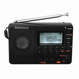 $enCountryForm.capitalKeyWord Australia - Retekess V115 Radio Receiver FM AM SW Portable Pocket Radio with USB MP3 Digital Recorder Support Micro SD TF Card Sleep Timer