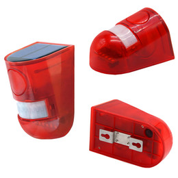 security night 2019 - Solar Security lamp Solar Powered Sound Alarm Strobe Light Flashing 6LED Light Motion Sensor Security Alarm System 110dB