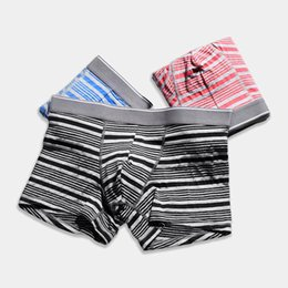 Modal u pouch online shopping - Plus Size Modal Underwear Men Striped Cotton Boxer Shorts Mid Waist Underpants U Bulge Pouch Boxers Trunks Casual Underwear New