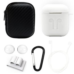 Apple Dhl Australia - For Apple Airpods Silicone Case Soft Protector Cover Earplug Sleeve Pouch With Anti-lost Rope Buckle for Air pods Earphone Case DHL