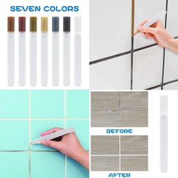 Painted floors online shopping - Ceramic Floor Tile Crevice Whitening Pen Wall Color Repair Paint Pen Colors