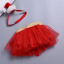 Tutus Sets Australia - good quality Baby Girls Clothing Set 2PCs Kids Christmas Tutu Ballet Skirts Fancy Party Skirt + Headband Set costume for girls conjun