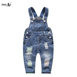 $enCountryForm.capitalKeyWord Australia - 2018 Spring Autumn Baby Denim Suspenders Boys Girls Jeans Overalls All-match Kids Jumpsuit Butter Siamese Trousers Pants 1-4t Y19061303