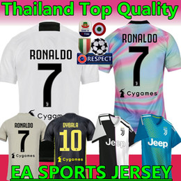 Woman jersey yelloW online shopping - RONALDO Juventus home third Kit Men Woman Kids Soccer Jersey New DYBALA juventus EA SPORTS JERSEY MANDZUKIC Football Shirts