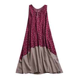 $enCountryForm.capitalKeyWord UK - Plus Size Vintage Women Dress Cotton And Linen Patchwork Casual Loose Boho Party Dress Summer Style Robe Femme Vestidos designer clothes