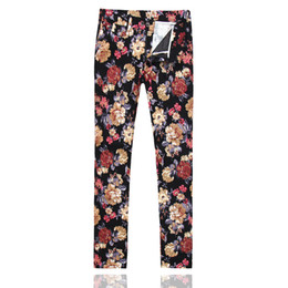$enCountryForm.capitalKeyWord UK - 2019 new mens flower pants slim fit casual trousers Asian size S-5XL pant