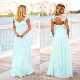 b0ccbad0abe White country maternity dress lace online shopping - Cheap Mint Green Long  Beach Bridesmaid Dresses Country
