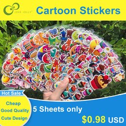 Children puffy stiCkers online shopping - Cheap Stickers Sheets D Puffy Bubble Stickers Mixed Cartoon Animals Cars Princess Waterpoof DIY Children Kids Boy Girl Toy Hot Sale GYH
