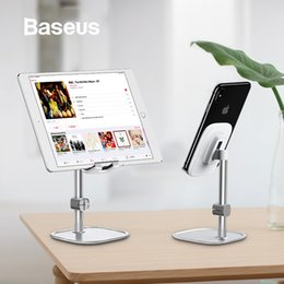 ipad tablet stands NZ - Baseus Mobile Phone Stand Holder for iPhone iPad Air Smartphone Metal Desk Desktop Phone Mount Holder for Xiaomi Huawei Tablet SH190928