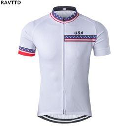 f9aa48b1f42707 usa cycling jerseys 2019 - USA Short Sleeve Men Cycling Jersey Breathable  Quick Dry Pro Mtb