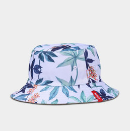 korean gardening hat NZ - 2019 New Hot Sale Korean version Japanese style double-sided hat Women 3D print fisherman Joker bucket hat Current