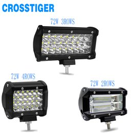 72w 6000k 10800lm auto verlichting led light bar modified tractor off road atv roof work lights car spotlight werklamp