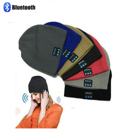 Beanie Headphones Wireless Australia - Bluetooth Hat Music Beanie Cap Stereo Wireless Earphone Soft Outdoor Headset Headphone Speaker Microphone Handsfree Music For Smart Phone