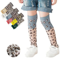 leopard sock NZ - Fashion Baby Girls Breathable Leopard Knee Stocking Lace Soft Comfortable Mid Tube Stockings 6 Colors Kids Girls Cute Knee Socks