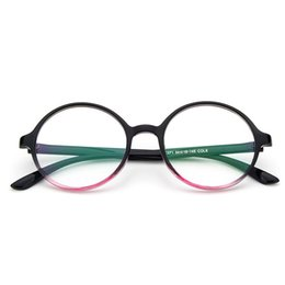 7d2d1ac6d4 New Retro round frame fresh glasses frame fashion flat mirror wild glasses  Eyeglasses Frames