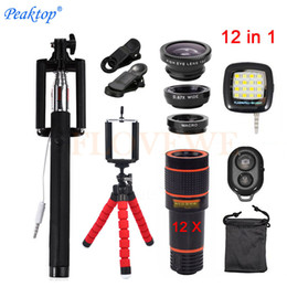 $enCountryForm.capitalKeyWord Australia - With Clips 12in1 Kits 12x Zoom Telephoto Lentes 3in1 Fish Eye Fisheye Lens Wide Angle Macro Lenses For Cell Phone Mobile Tripod J190704