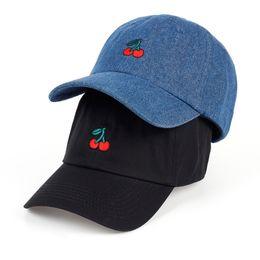 Cotton Cherry UK - VORON 2017 New Arrival Dad Hat Leisure Fresh Fruit cap Embroidery Hat Strawberry Banana Cherry Orange Peach Baseball Cap For W